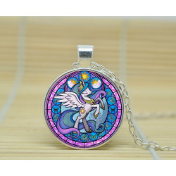 collier pendantif my little poney celestia