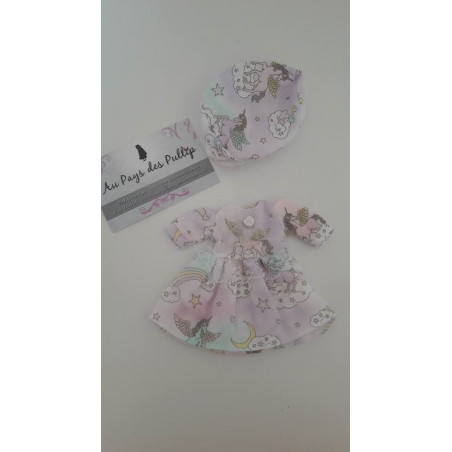 ensemble robe + bonnet