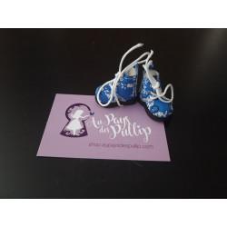 Boots Pullip bleu a fleur