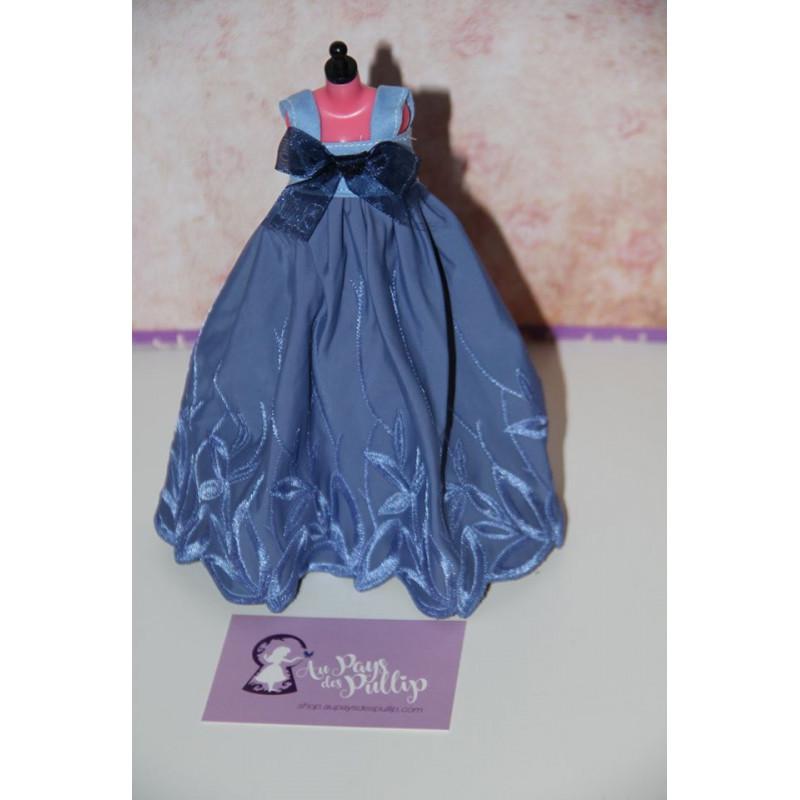 Robe Nuisette Longue Bleu