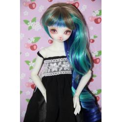 Wig 6-7 marron vert bleu