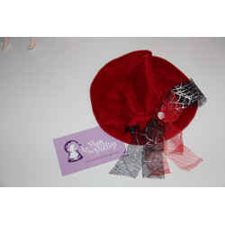 Chapeau de sorciere rouge