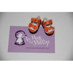 Chaussure Lolita orange et...
