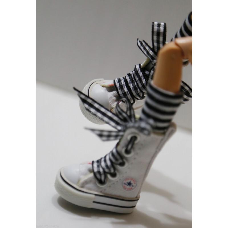 sneakers pullip blanche et noir